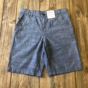 NWT Cat & Jack Blue Flat Front Shorts 10 Husky